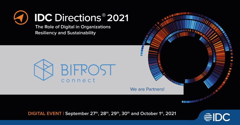 A image showing BifrostConnect as silver partner at the IDC Directions event 2021